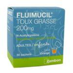FLUIMUCIL EXPECTORANT ACETYLCYSTEINE 200 mg SANS SUCRE, granulés pour solution buvable en sachet édulcorés à l'aspartam et au sorbitol à SAINT CHRISTOLY DE BLAYE