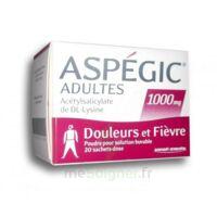 ASPEGIC ADULTES 1000 mg, poudre pour solution buvable en sachet-dose 20 à SAINT CHRISTOLY DE BLAYE