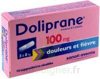 DOLIPRANE 100 mg Suppositoires sécables 2Plq/5 (10) à SAINT CHRISTOLY DE BLAYE