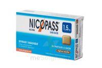 NICOPASS 1,5 mg Past sans sucre réglisse menthe Plq/36 à SAINT CHRISTOLY DE BLAYE