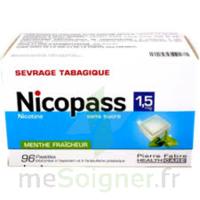 NICOPASS 1,5 mg Past sans sucre menthe fraîcheur Plq/96 à SAINT CHRISTOLY DE BLAYE