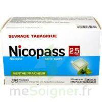 NICOPASS 2,5 mg Past menthe fraîcheur sans sucre Plq/96 à SAINT CHRISTOLY DE BLAYE