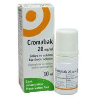 CROMABAK 20 mg/ml, collyre en solution à SAINT CHRISTOLY DE BLAYE