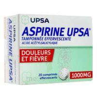 ASPIRINE UPSA TAMPONNEE EFFERVESCENTE 1000 mg, comprimé effervescent à SAINT CHRISTOLY DE BLAYE